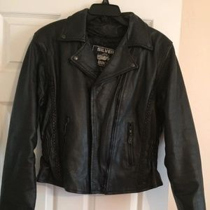 Silver Bike Genuine Leather Motorcycle Jacket L